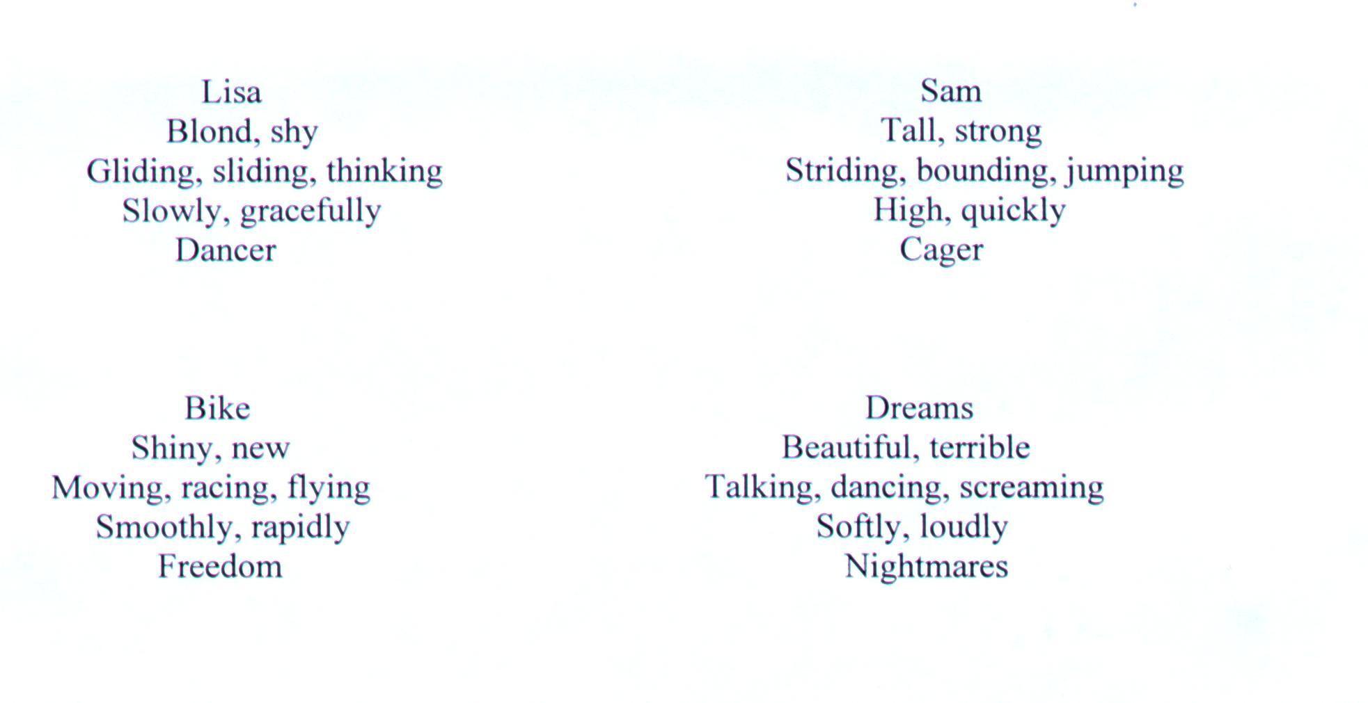 Cinquain Poem Examples Jpg Alca