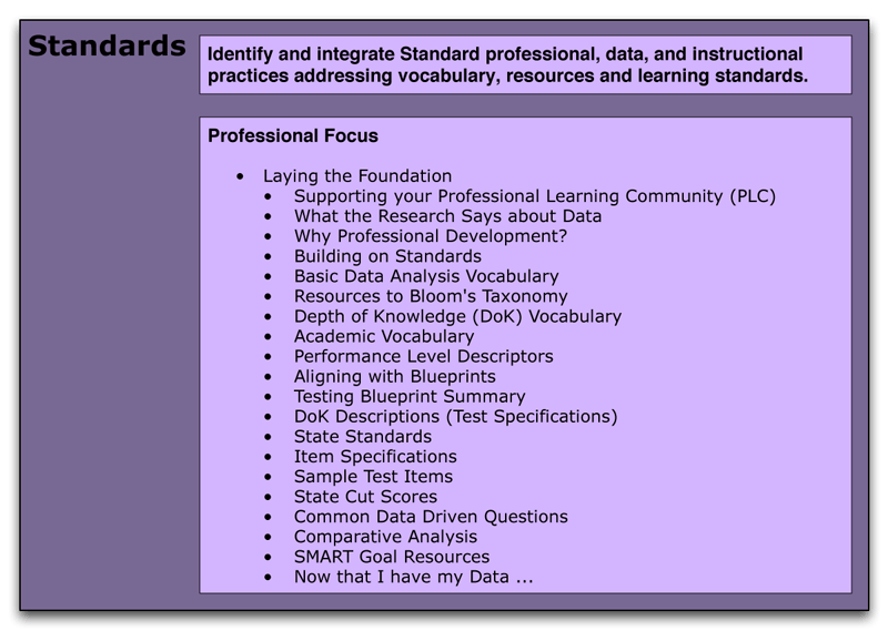 Standards Professional Activities